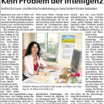 Kein Problem der Intelligenz