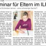 Seminar für Eltern im ILR