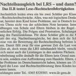 Nachteilsausgleich bei LRS – und dann?